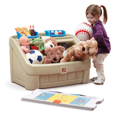 2-in-1 Toy Box & Art Lid - Neutral